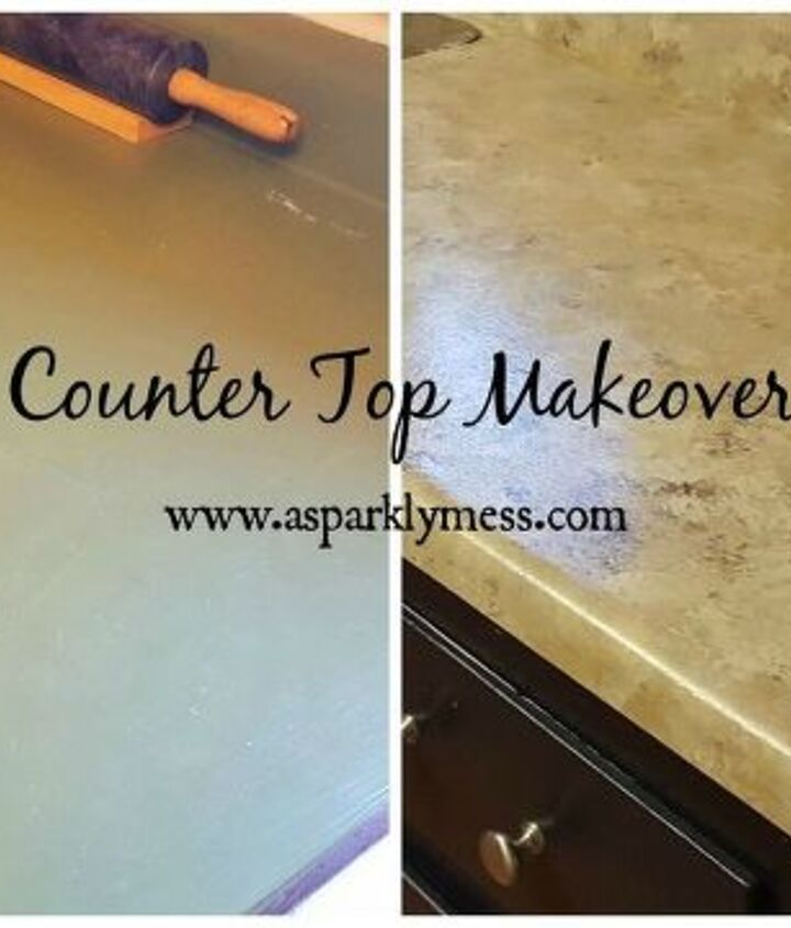 easy faux granite counter top, countertops, diy, kitchen design, painting