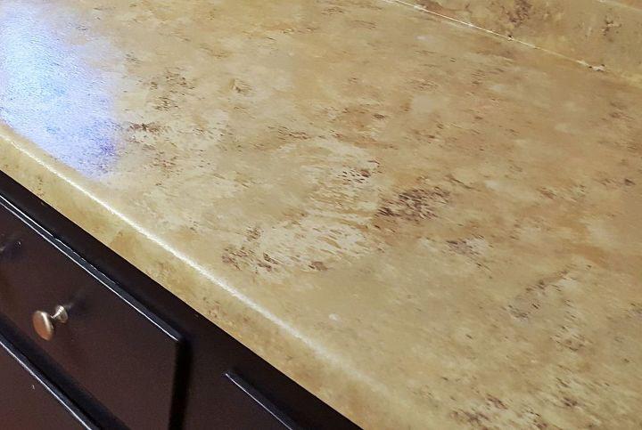 Easy Faux Granite Counter Top Hometalk