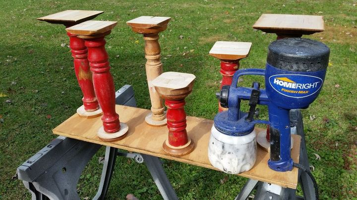 diy scrap wood candlesticks, diy, seasonal holiday decor, woodworking projects