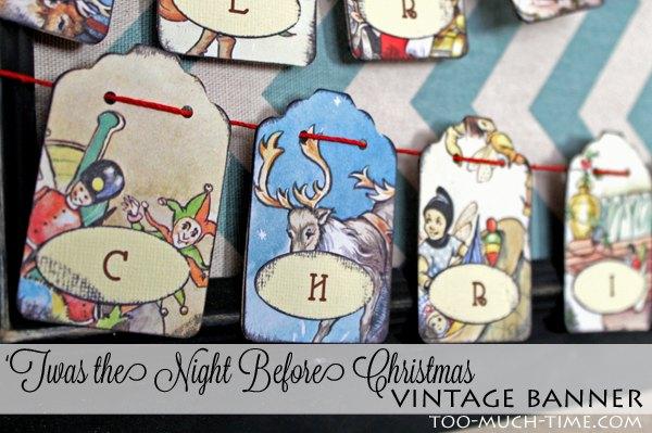vintage christmas mini banner diy, christmas decorations, crafts, seasonal holiday decor