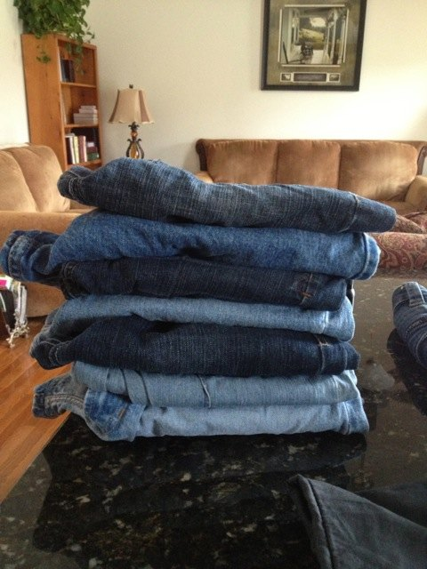 Start with a pile of old jeans
