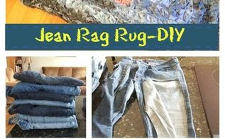 denim rug give old jeans new life diy, reupholster