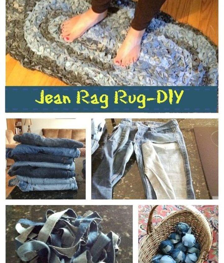 denim rug give old jeans new life diy, reupholster
