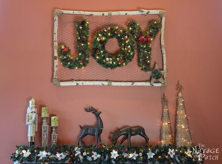 wrea thinking my j o y, christmas decorations, crafts, home decor, seasonal holiday decor