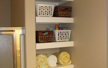 DIY Shelves for a Small Bathroom #DIY #Buildit