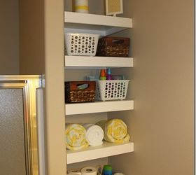 Great Diy Shelves For A Small Bathroom Diy Buildit, Bathroom Ideas, Diy, Shelving  Ideas