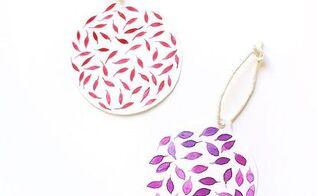 diy watercolor paper christmas ornaments, christmas decorations, crafts, seasonal holiday decor