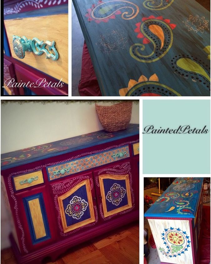 Hand Painted Bohemian Style Table