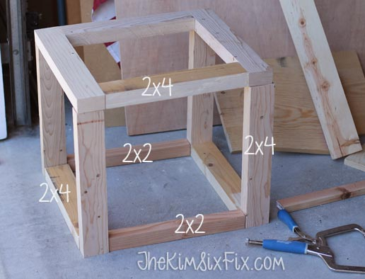 Weathered scrap wood crate christmas tree stand hometalk