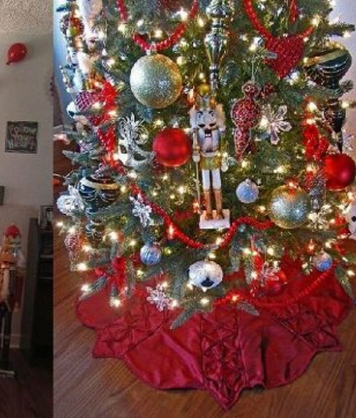 a few christmas trees over the years, christmas decorations, seasonal holiday decor