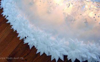 poinsettia christmastree skirt diy, christmas decorations, crafts, how to, seasonal holiday decor