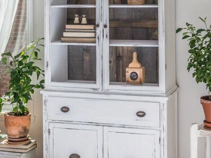 rustic farmhouse china cabinet, painted furniture, rustic furniture