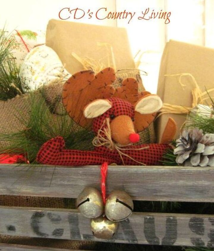 a vintage holiday crate sleigh, christmas decorations, repurposing upcycling, seasonal holiday decor