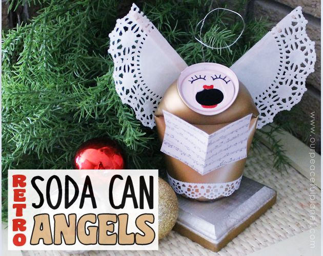 soda can singing angels, christmas decorations, crafts, how to, repurposing upcycling, seasonal holiday decor