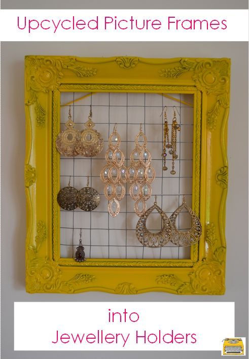 upcycling old picture frames into jewellery holders, crafts, organizing, repurposing upcycling, storage ideas