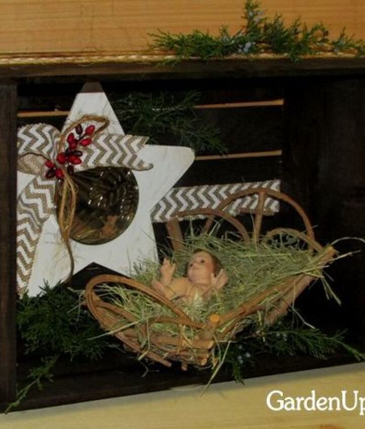 Christmas Nativity Crate Hometalk