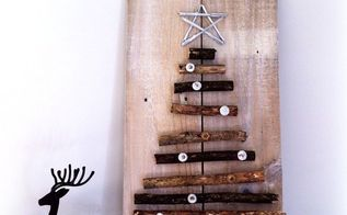 nordic inspired twig christmas tree, christmas decorations, crafts, seasonal holiday decor, woodworking projects