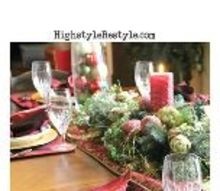 red gold green traditional tablescape, christmas decorations, crafts, seasonal holiday decor, wreaths