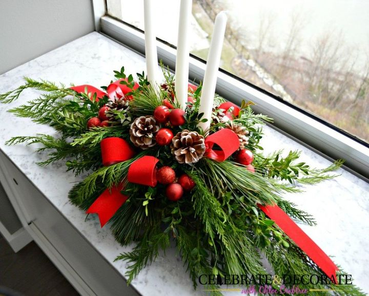 make this evergreen christmas centerpiece christmas decorations crafts how to seasonal holiday