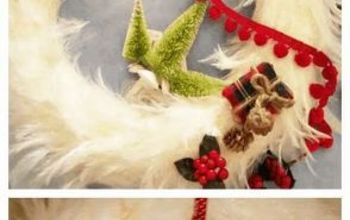simply cute christmas wreath, christmas decorations, crafts, seasonal holiday decor, wreaths