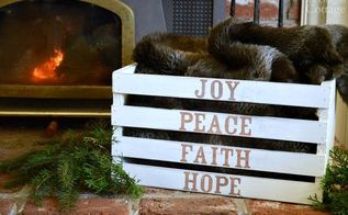 easy holiday word art crate, christmas decorations, crafts, seasonal holiday decor