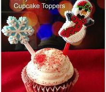 easy beautiful cupcake toppers for christmas, crafts