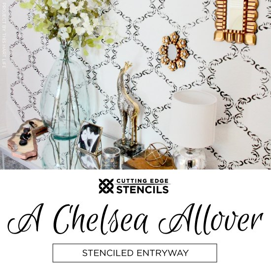 a chelsea allover stenciled entryway, foyer, home decor, painting, wall decor