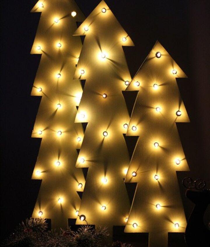diy marquee christmas trees, christmas decorations, diy, seasonal holiday decor