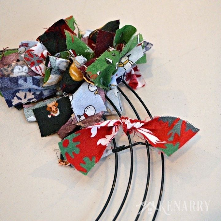 scrap fabric christmas wreath hometalk