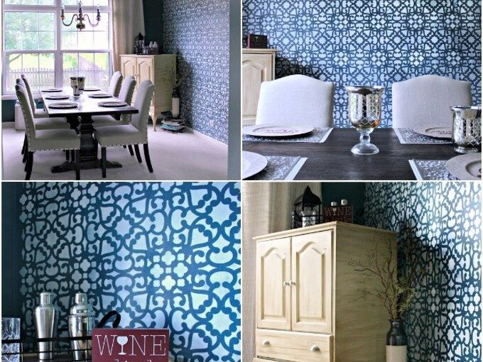 make your home modern or moroccan with this lace stencil, home decor, painting, wall decor