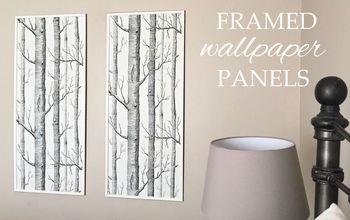 framed wallpaper panels, wall decor