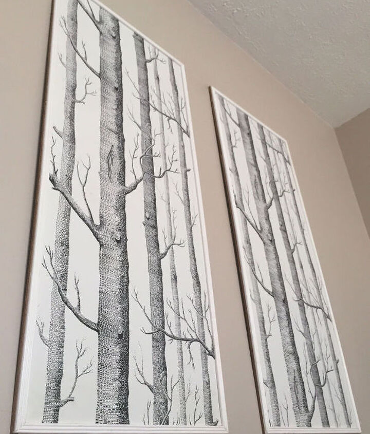 framed wallpaper panels, wall decor