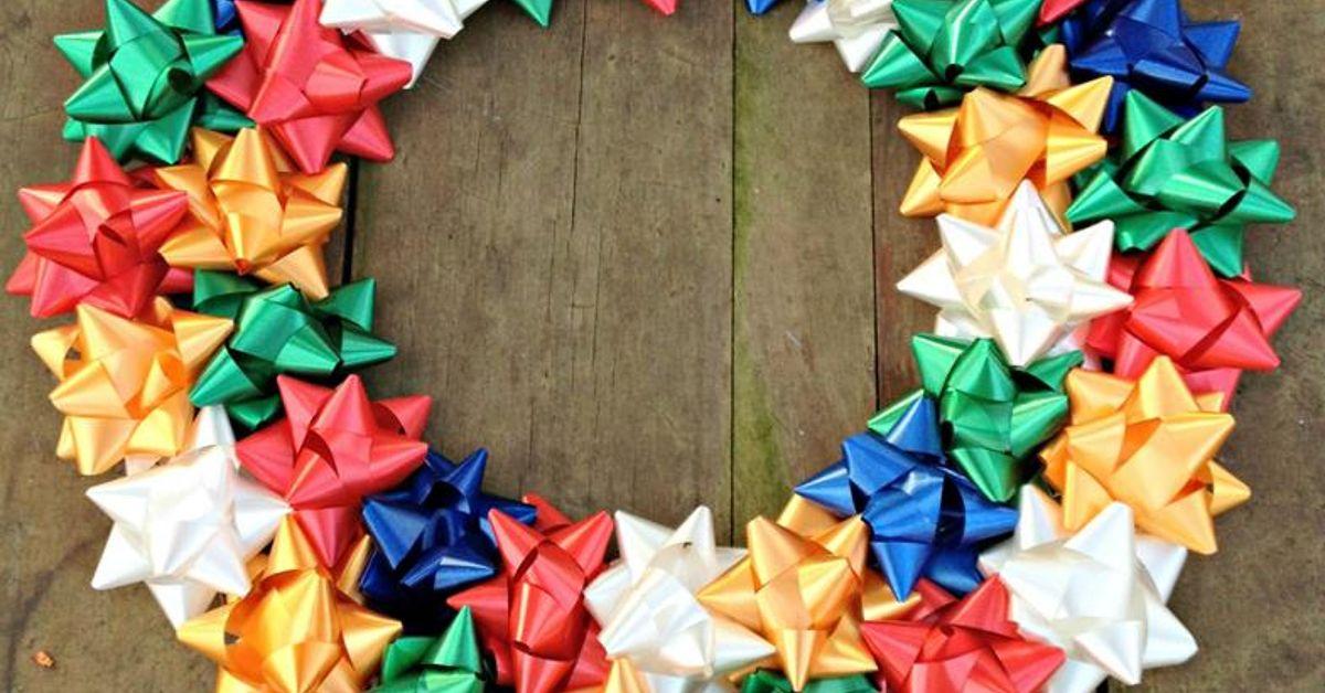 diy christmas bow wreath hometalk