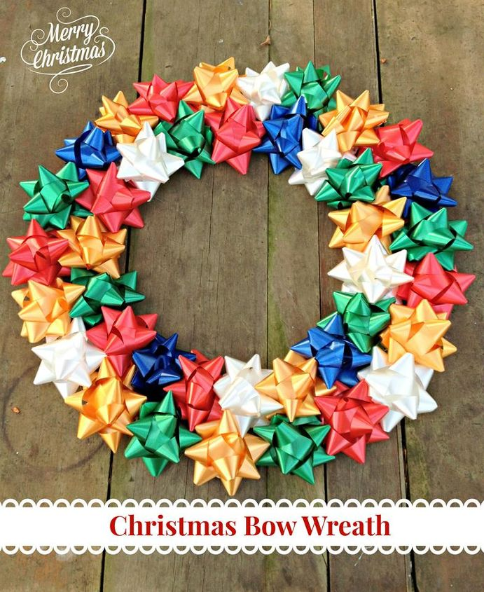 diy christmas bow wreath christmas decorations crafts wreaths - How To Make A Christmas Bow For A Wreath