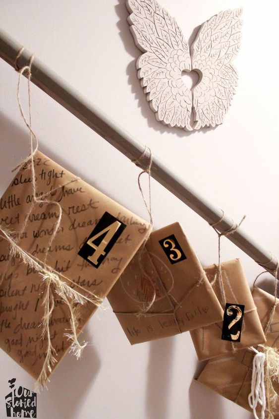 diy bedtime story advent calendar, christmas decorations, crafts, seasonal holiday decor