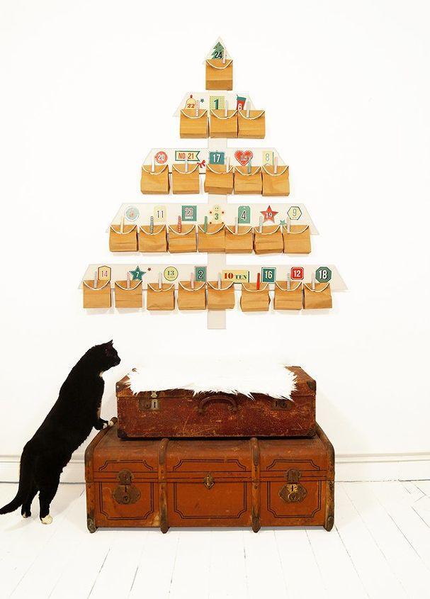 xxl advent calendar, christmas decorations, crafts, how to, seasonal holiday decor
