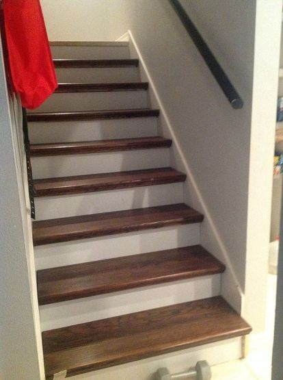 From Carpet To Wood Stairs Redo Cheater Version Diy How