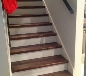 Charming From Carpet To Wood Stairs Redo Cheater Version, Diy, How To, Stairs