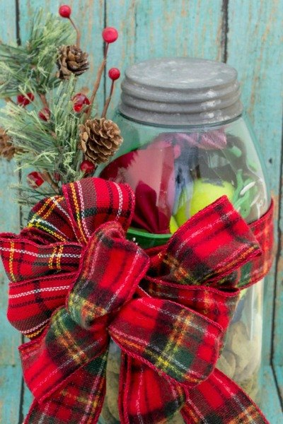 s 23 perfect mason jar gifts for everyone on your list, christmas decorations, crafts, mason jars, For The Dog Lover In Your Life