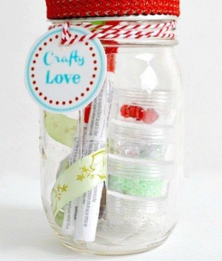 s 23 perfect mason jar gifts for everyone on your list, christmas decorations, crafts, mason jars, For a Die Hard Crafter