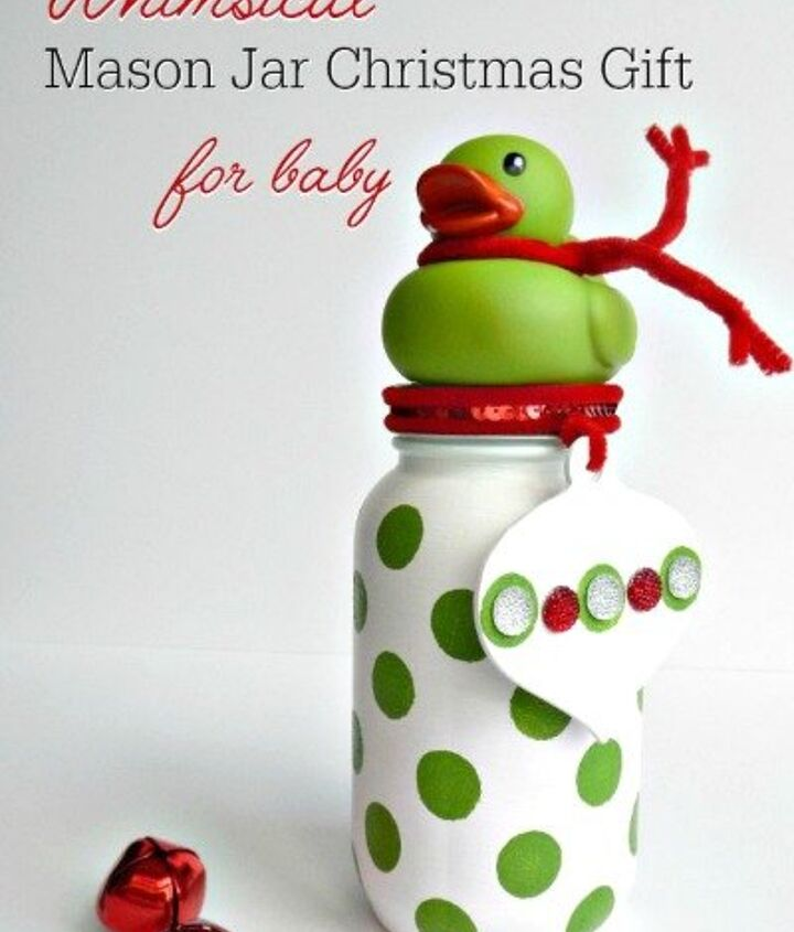 s 23 perfect mason jar gifts for everyone on your list, christmas decorations, crafts, mason jars, For a New Mama