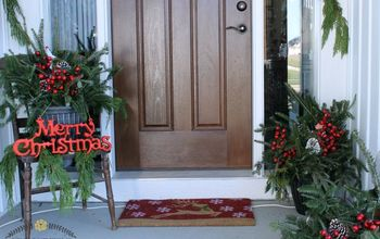 Affordable & Natural Christmas Front Porch Decor