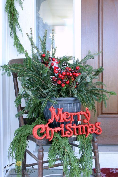 affordable natural christmas front porch decor christmas decorations porches seasonal holiday decor