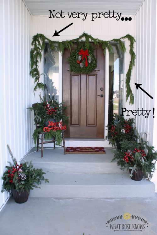 affordable natural christmas front porch decor christmas decorations porches seasonal holiday decor