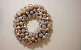 christmas ornament wreath, christmas decorations, crafts, seasonal holiday decor, wreaths, TA DA She s full up