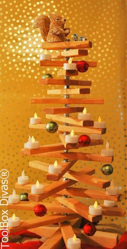the nuts n bolts of making a wooden christmas tree, christmas decorations, diy, repurposing upcycling, seasonal holiday decor, woodworking projects