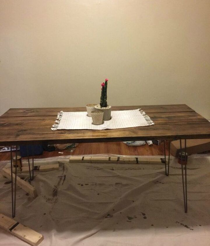 how to create a simple inexpensive diy table, diy, how to, painted furniture, woodworking projects