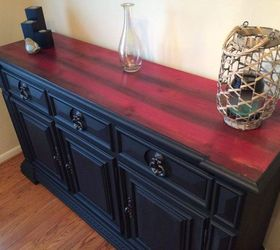 Red Cedar Inspired Upcycled Buffet, Painted Furniture, Woodworking Projects
