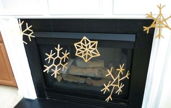 Making Craft Stick Snowflakes for Christmas Mantle Display