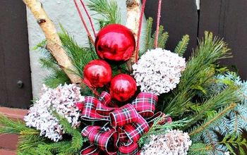 how to make great outdoor arrangements for christmas, christmas decorations, container gardening, gardening, how to, seasonal holiday decor